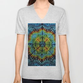 Exhale: A vibrant mix of colors of the rainbow Unisex V-Neck