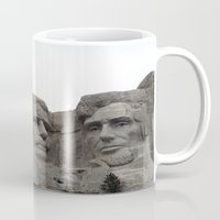 rushmore Mugs featuring Mount Rushmore National Park by Joanne Salazar