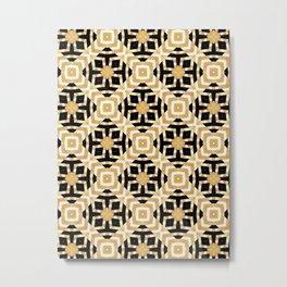 Gold Foil Art Deco Geometric Metal Print