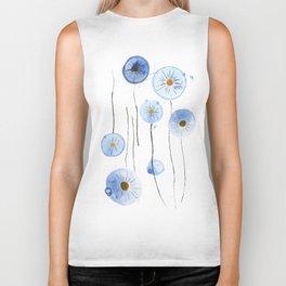 blue abstract dandelion 2 Biker Tank