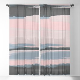 Soft Determination Peach Sheer Curtain