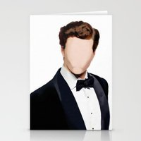 allyson johnson Stationery Cards featuring Aaron Johnson - Faceless Portrait by The Dreamer