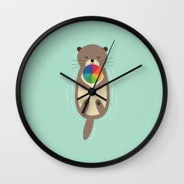 Sweet Otter Wall Clock