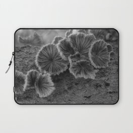 Tree Fungus Black and White Laptop Sleeve