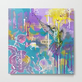 A Hummingbirds Folly Metal Print