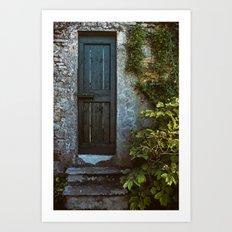 Secret Garden Door Art Print