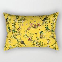 Monkey World Yellow Rectangular Pillow