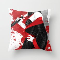 Sin City-Miho Throw Pillow