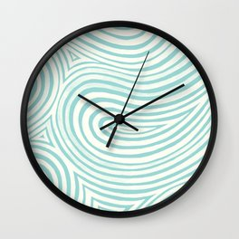Waves in Teal Wall Clock