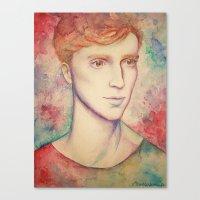 kieren walker Canvas Prints featuring Kieren II by FlockeInc