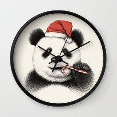 Festive Panda Wall Clock