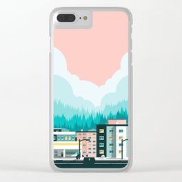 A View of 12th Avenue Clear iPhone Case