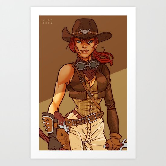 Zombie Hunter Art Print