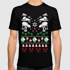 Ugly Christmas Sweater Win - Star Wars Empire style Black LARGE Mens Fitted Tee