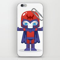 magneto iPhone & iPod Skins featuring MAGNETO ROBOTIC by We Are Robotic