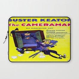 Vintage poster - The Cameraman Laptop Sleeve