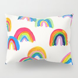 Abstract Rainbow Arcs - White Palette Pillow Sham