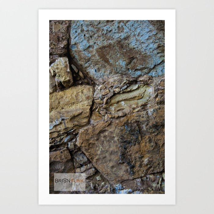 Color Rock Art Print