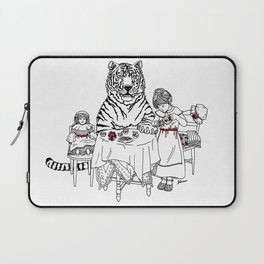 Have a Tiger to Tea Laptop Sleeve