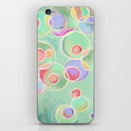 Iridescent Bubbles - Pastel Abstract Painting  iPhone Skin