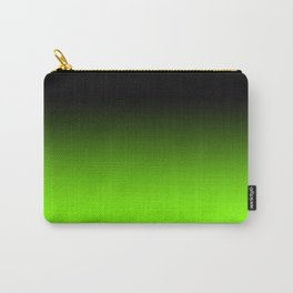Black and Chartreuse Ombre Carry-All Pouch