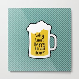 Beer Happy Hour Metal Print