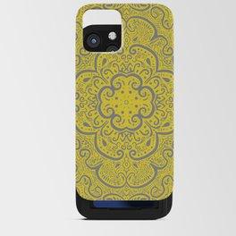 Illuminating Yellow & Ultimate Gray Pattern iPhone Card Case