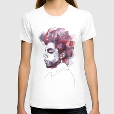 Prince Womens Fitted Tee White MEDIUM