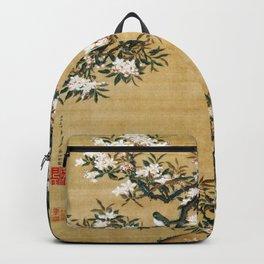 Ito Jakuchu - Malus Halliana And White-eye - Digital Remastered Edition Backpack