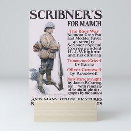 Affiche scribners for march. circa 1900  Mini Art Print