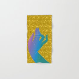 Holly Hand on Gold-leaf Screen Hand & Bath Towel