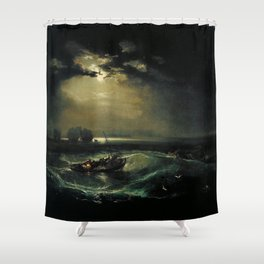 William Turner - Fishermen at Sea Shower Curtain