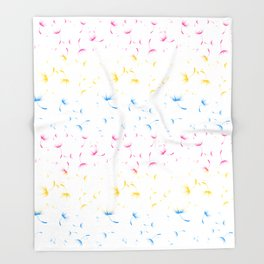 Dandelion Seeds Pansexual Pride (white background) Throw Blanket