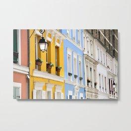 Colorful rue Crémieux, Paris Metal Print