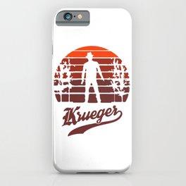 Horror Sunset Krueger iPhone Case