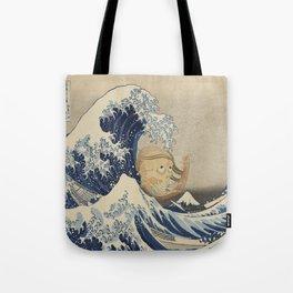 Under the wave of Kanagawa (Kanagawa oki nami ... Tote Bag