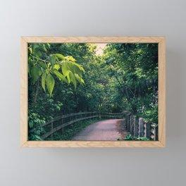 Park walk Framed Mini Art Print