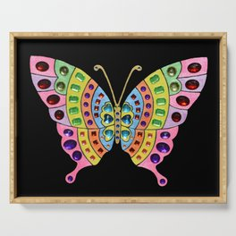 Jeweled Butterfly Serving Tray
