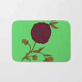 simple decorative pomegranate Bath Mat
