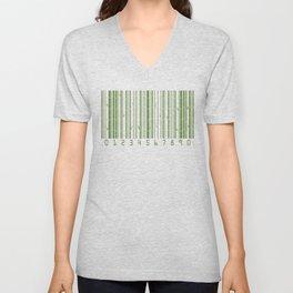 Bamboo Barcode Unisex V-Neck