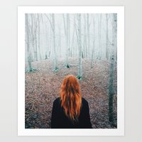 Sophie and the trees Art Print