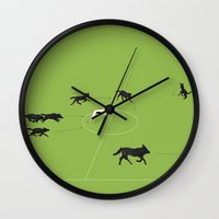 football Wall Clocks featuring Football by Rubans