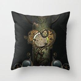 Wonderful steampunk heart, clocks and gears Throw Pillow