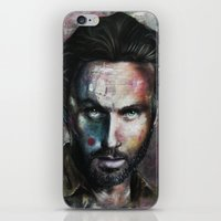 rick grimes iPhone & iPod Skins featuring Rick Grimes by Jhaiku