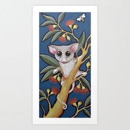 Pygmy Possum and Red Gum Blossoms Art Print