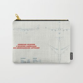 Boeing 747 plane technical drawing Carry-All Pouch