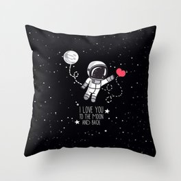 I love to The Moon and Back Throw Pillow