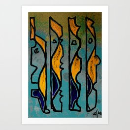 PEOPLE - Abstract style Art Print