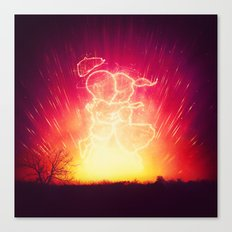 Cosmo + Celeste ( Colorful Cosmological Night Sky Couple in Love ) Canvas Print