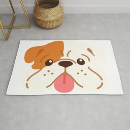 Smiling English Bulldog Rug